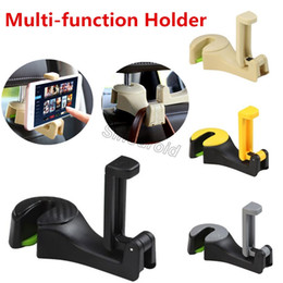 Wholesale Newest Creative Car Mounted Mobile Phone Holder Seat Back Hook Car Multi function Rear Mobile Phone Bracket Hook Car Hidden Phone Frame