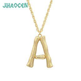 6e981f19701b Comiya Designer Necklaces Zinc Alloy Gold Color Letter Pendant Necklace For  Women Vintage Jewelry Collare Colier Femme 2018