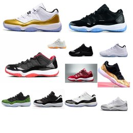 Snakeskin Shoes For Sale NZ - Cheap new mens Jumpman 11 XI low cut basketball shoes 11s Gold Closing Ceremony Snakeskin air flights j11 sneakers boots for sale