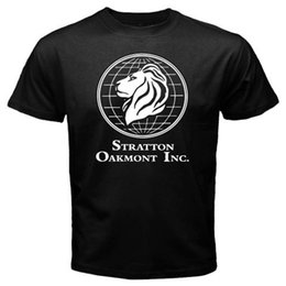 wolves tshirt Australia - New Wolf Of Wall Street Stratton Oakmont Company Mens Black T-Shirt Size S-3XL 2019 Summer New Fashion Brand Tshirt Solid Color