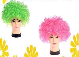 $enCountryForm.capitalKeyWord NZ - Halloween adult children colorful hair wigs explosive head clown wig masquerade ball performance fans hair sets