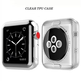 ultra thin slim watch Australia - Clear Ultra Slim Thin Full Cover For Apple Watch Series 4 3 2 1 40mm 44mm 38mm 42mm Soft TPU Silicone Case Screen Protector Anti-Scratch
