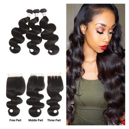 $enCountryForm.capitalKeyWord Australia - 8A Brazilian Virgin Human Hair Bundles With Lace Closure Water Deep Kinky Curly Straight Body Wave Remy Human Hair Extensions