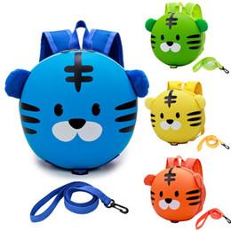 Vente en gros Nouveaux enfants bébé harnais de sécurité sac à dos laisse enfant enfant en bas âge anti-perdu mignon sac de tigre de bande dessinée