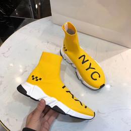 Venta al por mayor de 2019 Lux Sock Shoes Casual Zapato Speed Trainer Zapatillas de deporte de alta calidad Speed Trainer Sock Race Runners negro zapatos hombres y mujeres fz18010348