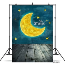 $enCountryForm.capitalKeyWord NZ - Cartoon Moon Starry Sky Painting Photoshoot Backdrop Vinyl Cloth Studio Background for Children New Born Baby Photography Props