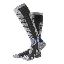 knee high compression running socks UK - Men Women Winter Warm Compression Socks Outdoor Sports Skiing Running Soft Knee-High Socks