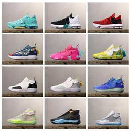 Discount kevin durant easter shoes - 2019 Basketball Shoes KD10 KD12 KD11 Sneakers KD 11 12 10 Royal Mammary Cancer Black Moon 90s Kid University Red Kevin D