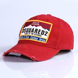 Großhandel neue Art D2 ICON Hip Hop Baseballmütze Hysteresenhüte Classic Outdoor Kanada Flag Style Hat für Männer Frauen Caps Casquette Hüte Letter2019