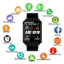 Ip67 Smart Watches Australia - OGEDA F1 Fashion 4 colors Smart Watch IP67 Waterproof Sports Fitness Tracker Clock Heart Rate Monitor Blood Pressure Function
