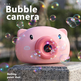 outdoor toys for NZ - New Fun Cute Cartoon Pig Camera Kids Baby Bubble Machine Outdoor Automatic Bubble Maker Surprise Gift for Bath Toys for Children FY4092