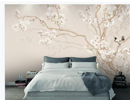 $enCountryForm.capitalKeyWord Australia - Custom 3d Mural Wallpaper Plain color magnolia hand-painted flowers and birds background wall European pattern decorative painting