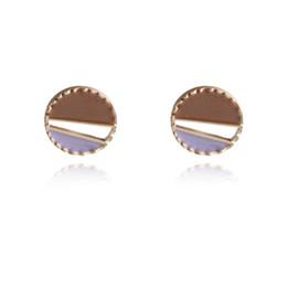 $enCountryForm.capitalKeyWord Australia - New Fashion Sample Ear Stud For Girls Students Charm Ear Stud Cute Round Earring Enamel Ear Ring