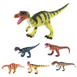 monkey glasses NZ - New Style Large Size Soft Silcone Dinosaur Model Toy Jurassic Tyrannosaurus Rex Cattle Dragon Model Ornaments CHILDREN'S Toy Cro