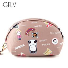 $enCountryForm.capitalKeyWord Australia - GFLV Brand 2019 New Korean Fashion Cartoon Makeup Bag Cosmetic Cases Portable Women Travel Makeup Bag Black Zipper Cosmetic Case