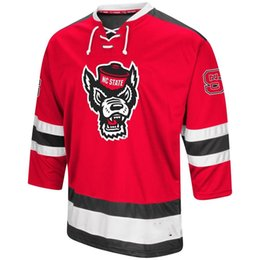 Hockey Jersey Customized UK - Mens NC State Wolfpack Hockey Jersey  Embroidery Stitched Customize any number a0bfb9f42