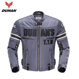 $enCountryForm.capitalKeyWord NZ - DUHAN Vintage Motorcycle Jacket Men Protective Gear Riding Motorbike Moto Jacket Breathable Motorcycle Protectors for Summer