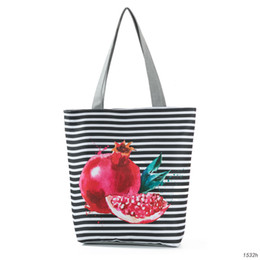 shop bag fruit NZ - Originality Fund Pomegranate Pattern Printing Women's Single Shoulder Package Heat Sell Fruits Shopping Bag Woman