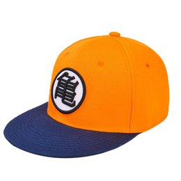 Chinese  Goku Boy Toy Hat Snapback Flat Hip Hop Caps manufacturers
