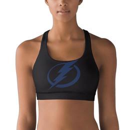 $enCountryForm.capitalKeyWord Australia - Tampa Bay Lightning Mesh design 100% Polyester Fiber Vest Breathable Top Sweat-Absorbent Yoga Bra Elastic Padded Yoga Vest Gym Gy