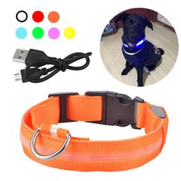 Usb flash dog online shopping - USB Rechargable Dog LED Flashing Collar Pet Cat Luminous Collar Glowing Necklace Outdoor Anti lost Night Safety For Dog Walking