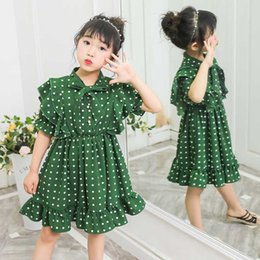 evening straight gown Australia - New Girls Dress Polka dot bow Elegant Princess Dress Kids Dresses For Girls Birthday Evening Party Ball Gown Children Clothing