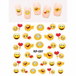 $enCountryForm.capitalKeyWord UK - NAIL ART BEAUTY NAIL STICKER WATER DECAL SLIDER CARTOON SMILING FUNNY FACES COOKIES DOLLS RP097-102