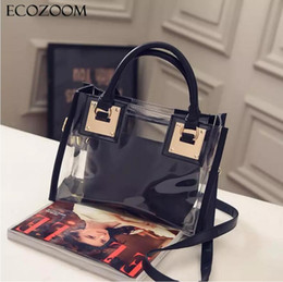 125bc9c095 Women Transparent PVC Handbag Europe Fashion Summer Sweet Lady Jelly Clear Plastic  Beach Bag Candy Color Shoulder Bags Tote Bag