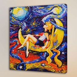 $enCountryForm.capitalKeyWord Australia - Van Gogh Sailor Moon,HD Canvas Print Home Decor Art Painting Unframed Framed