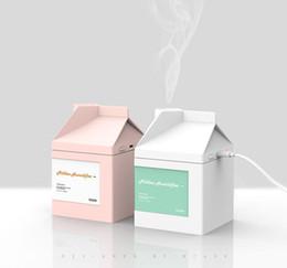 BCASE Caja de Leche USB Humidificador Mini Ultrasónico Fogger USB Aceite Esencial Aroma Difusor de Aire Purificador fresco al por mayor