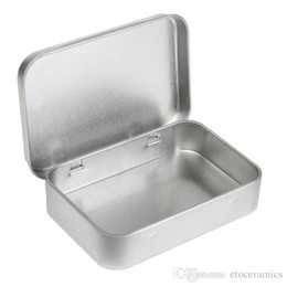 $enCountryForm.capitalKeyWord Australia - Wholesale Survival Kit Tin Higen Lid Small Empty Silver Flip Metal Storage Box Case Organizer For Money Coin Candy Keys H210571