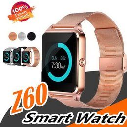 $enCountryForm.capitalKeyWord Australia - Z60 Smart Watch Bluetooth Smart Watches Support SIM Record Sleep State TF Card Stainless Steel Fitness Tracker For Android And IOS