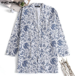 Blue Cotton Cloak Australia - Brand Chinese Clothing Mens Cloak Trench Long Sleeve Tops Hiphop Cardigan Coats Fashion Coats 5XL Outwear Hombre Mantle Autumn