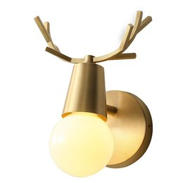 $enCountryForm.capitalKeyWord Australia - Modern Wall Sconce Gold Lamps Home Lighting Copper antler wall lamp American LED Wall Light For Living Room New Fixtures