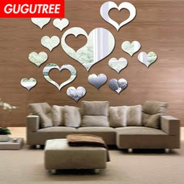 $enCountryForm.capitalKeyWord Australia - Decorate Home love heart 3D mirror art wall sticker decoration Decals mural painting Removable Decor Wallpaper G-2665