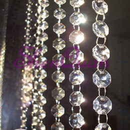 crystal beads acrylic curtains NZ - Clear acrylic beads chain acrylic crystal garland hanging diamond chandelier wedding supplies party table decoration ,bead curtain
