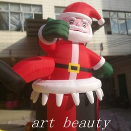 Santa Inflatable Australia - hot sale new design inflatable santa claus for christmas decor yard decor
