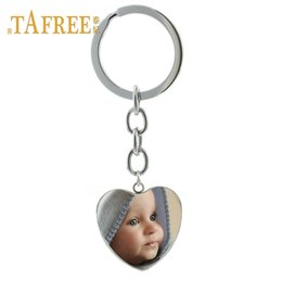 Baby Figures Australia - TAFREE Personalized Custom heart Keychain Photo Of Your Mum Dad Baby Children Grandpa Parents Custom designed Photo Jewelry NA01
