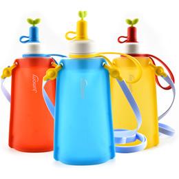 Flexible Gears Australia - Child Kettle Plastic Water Bag Fold Silica Gel Outdoor Motion Hydration Gear Portable Jumony Lanyard Design Flexible Durable 20zsC1