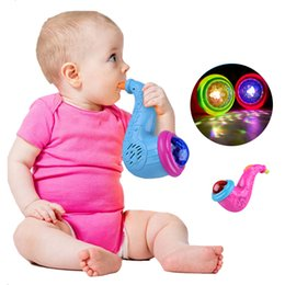 Glow baby toy online shopping - Eco Friendly New Arrival Cute Sax Led Flashing Musical Projector Toys Children Baby Instrument Glowing Birthday Gifts