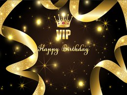 $enCountryForm.capitalKeyWord UK - Golden Crown Ribbon Vinyl Photography Backdrops Glittering Stars Photo Booth Backgrounds for Birthday Party Studio Props