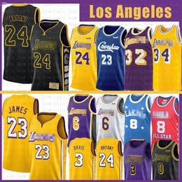 LeBron 23 James 6 Basketball Jersey Bryant Anthony 3 Kyle Davis Kuzma Mens Adult Youth kids 8 Shaquille 34 O'Neal Earvin 32 Johnson NCAA on Sale