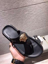 Thick Sole Sandals Australia - Summer Korean big size Tide Slippers Men Non-slip Cool Flip-Flops Breathable Thick-soled Sandals Slippers Toe Sandals