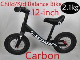 376799fc66d41c 2.1 kg Super leggero 2 ~ 6 anni 12 pollici in fibra di carbonio per bambini  bicicletta in fibra di carbonio bambino equilibrio telaio della bici del ...