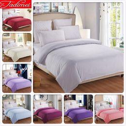 $enCountryForm.capitalKeyWord Australia - 1 Piece Duvet Cover Light Gray Plain Pure Color Bedding Bag Quilt Comforter Case Cotton 150x200 180x220 200x230 220x240