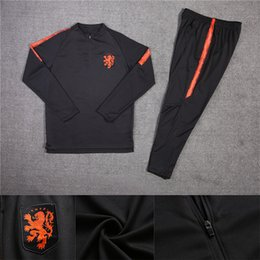 Chinese  Netherlands soccer Jacket Tracksuit 18 19 chandal Netherlands training suits ROBBEN MEMPHIS PERSIE Soccer Jersey training sports wear manufacturers