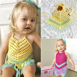 $enCountryForm.capitalKeyWord Australia - Baby Bibs Infant Kid Baby Girl Clothes Crochet Hollow Out Romper Jumpsuit Outfit One-Piece Feeding Cotton Sleeveless