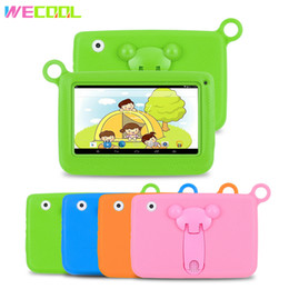 $enCountryForm.capitalKeyWord NZ - 7 inch WeCool Children Tablet PC with Silicon Bracket Case Android 4.4 OS Quad Core 8GB HD Screen Kids EDU Games PAD 4 colors