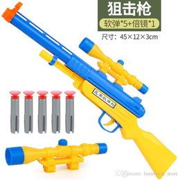toy handcuffs Canada - Children's toys can launch bullets soft bullet gun model police telescope handcuffs set toy gun.#kl9