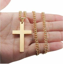$enCountryForm.capitalKeyWord Australia - 2019 Hot Sell Man Pendant necklace Hip Hop Gold silver cross Pendant Jewelry mens necklacewith iced out chains alloy plated golden jewelry